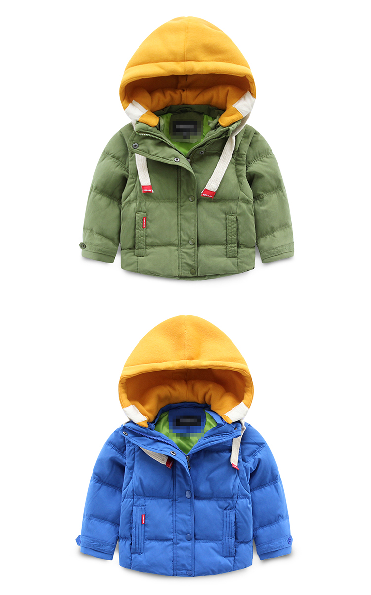 Скидки на 2016 новый детские дети зимняя куртка с капюшоном персик мальчик носить толстые теплые пуховик