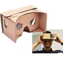 "DIY 3D Viewing Glasses for 5.0"" Screen Google VR 3D Glasses Google Cardboard High quality  Virtual Reality VR Mobile Phone(China (Mainland))"