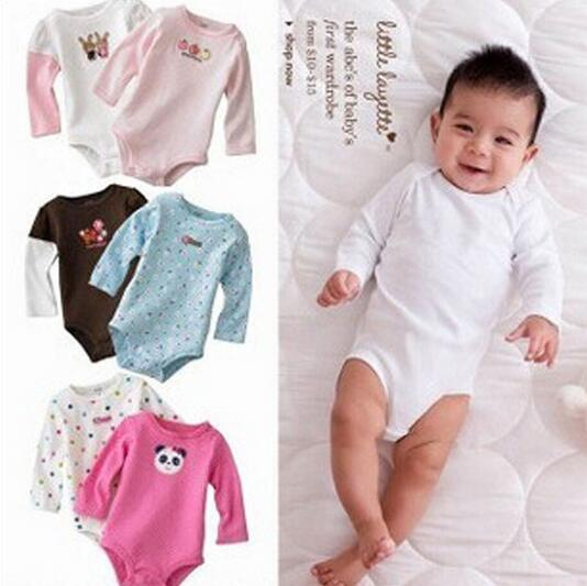 5pcs Baby Romper Long sleeve Cotton fashion Baby Boy Girl Clothes Cartoon animal print Baby Wear Jumpsuits Clothing Set Romper(China (Mainland))