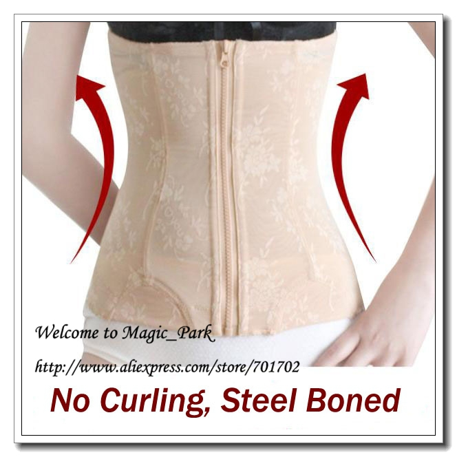 Hot Shapers Waist shaper Waist trimmer Sexy Corsets Underbust Steel Boned Body Shapers Plus Waist Cinchers Body Shapers S-3XL(China (Mainland))