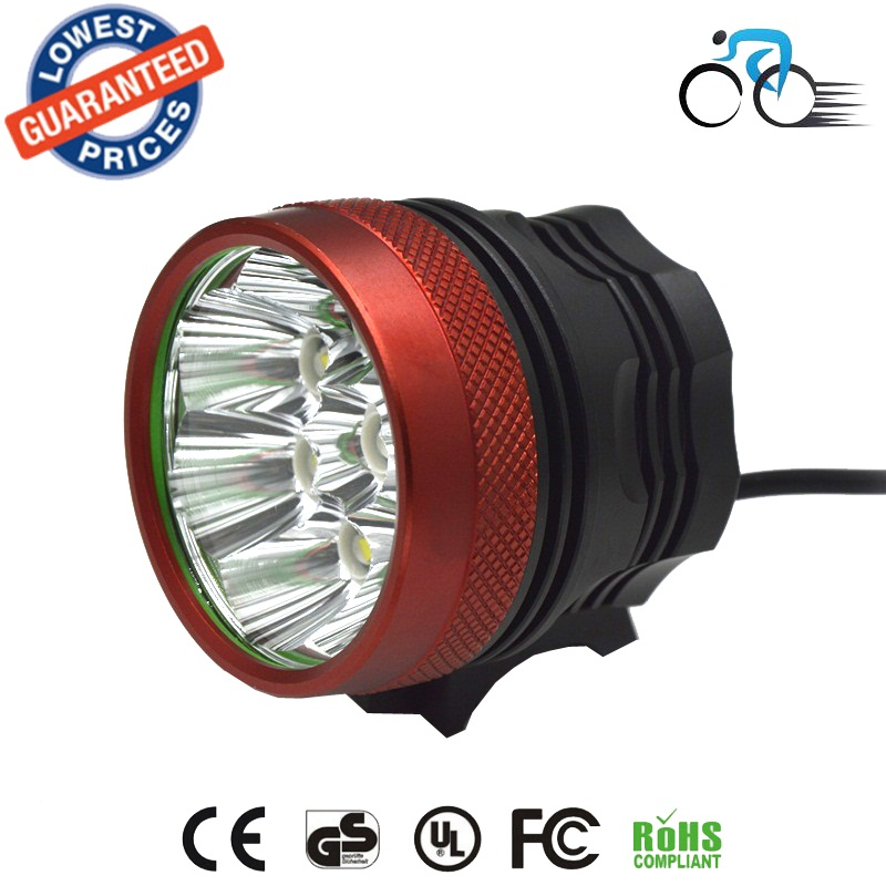 BK-08 headlight bicycle front light 12000LM 8x CREE XML XM-L T6 LED Cycling Bicycle Bike Light Lamp 6*18650 Battery charger set<br><br>Aliexpress