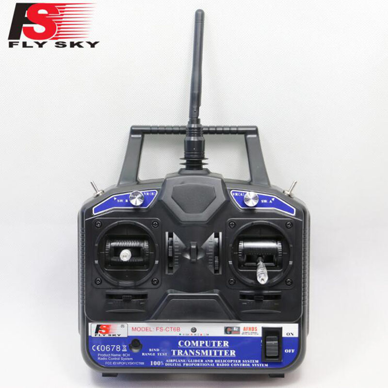 Flysky FS 2.4G 6ch rc Radio remote control Transmitter & Receiver CT6B for 3D RC helicopter airplane with tracking number(China (Mainland))