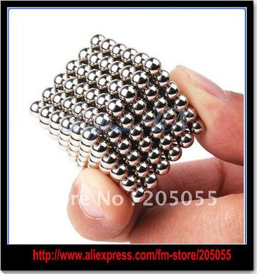 Free shipping Neodymium Magnet Neo Sphere Cube Magnetic Ball 216+Box(China (Mainland))