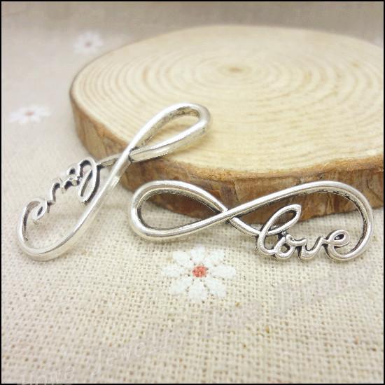 Гаджет  65 pcs Charms love Connector Pendant  Tibetan silver  Zinc Alloy Fit Bracelet Necklace DIY Metal Jewelry Findings None Ювелирные изделия и часы