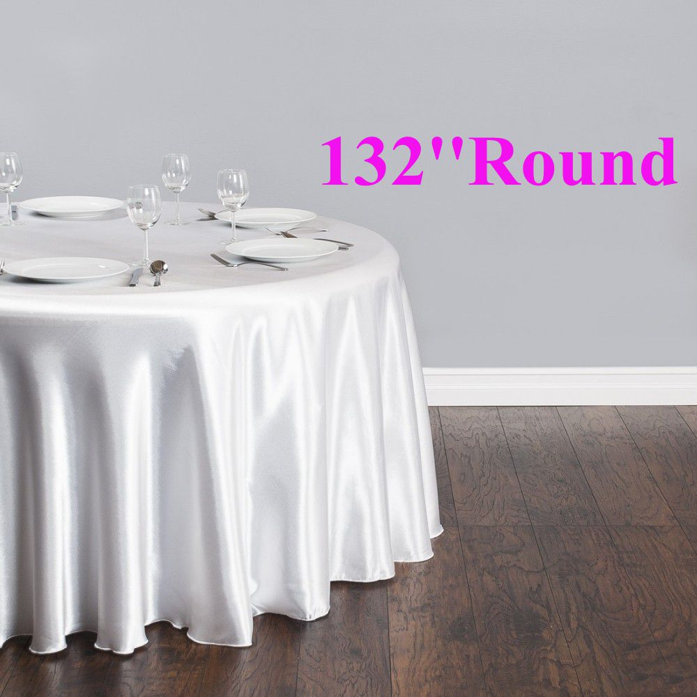 Free shipping 10pcs cheap white 132 39 39 round satin table for Inexpensive round tables