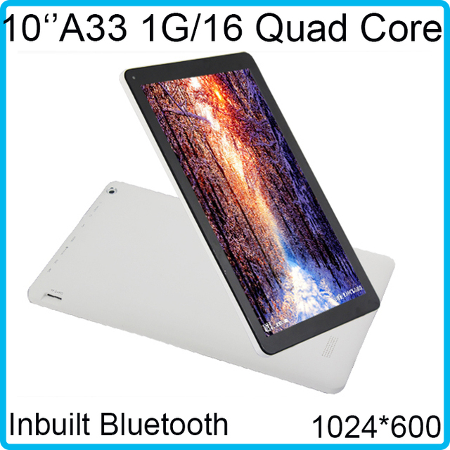 Fast Speed Original 1.3GHZ 1024*600 bluetooth allwinner A33 Quad core dual camera HD screen android tablet 10 inch Free shipping