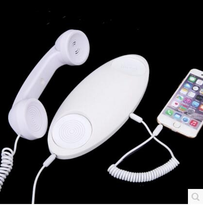 pop phone Genuine universal phone radiation retro handset microphone external landline telephone landline for iphone Android(China (Mainland))