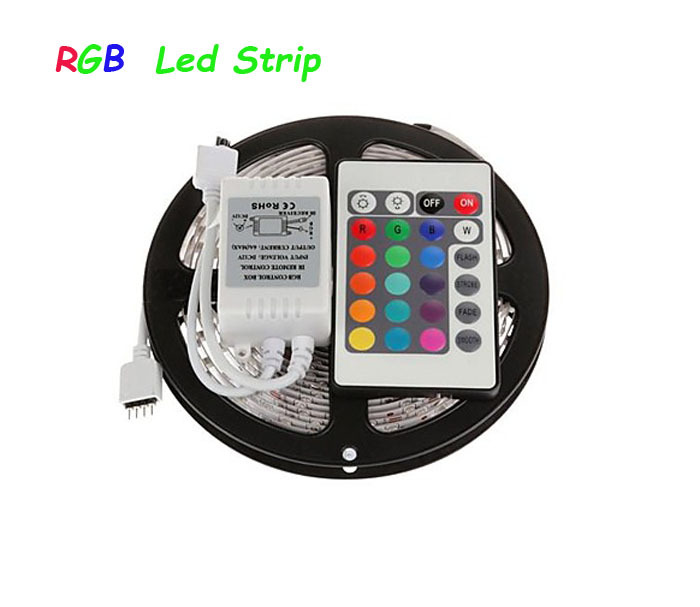 3528 led strip 5M/roll 60led/M led strips SMD 3528 DC12V safe led bar light+24Key IR remote controller RoHS CE(China (Mainland))