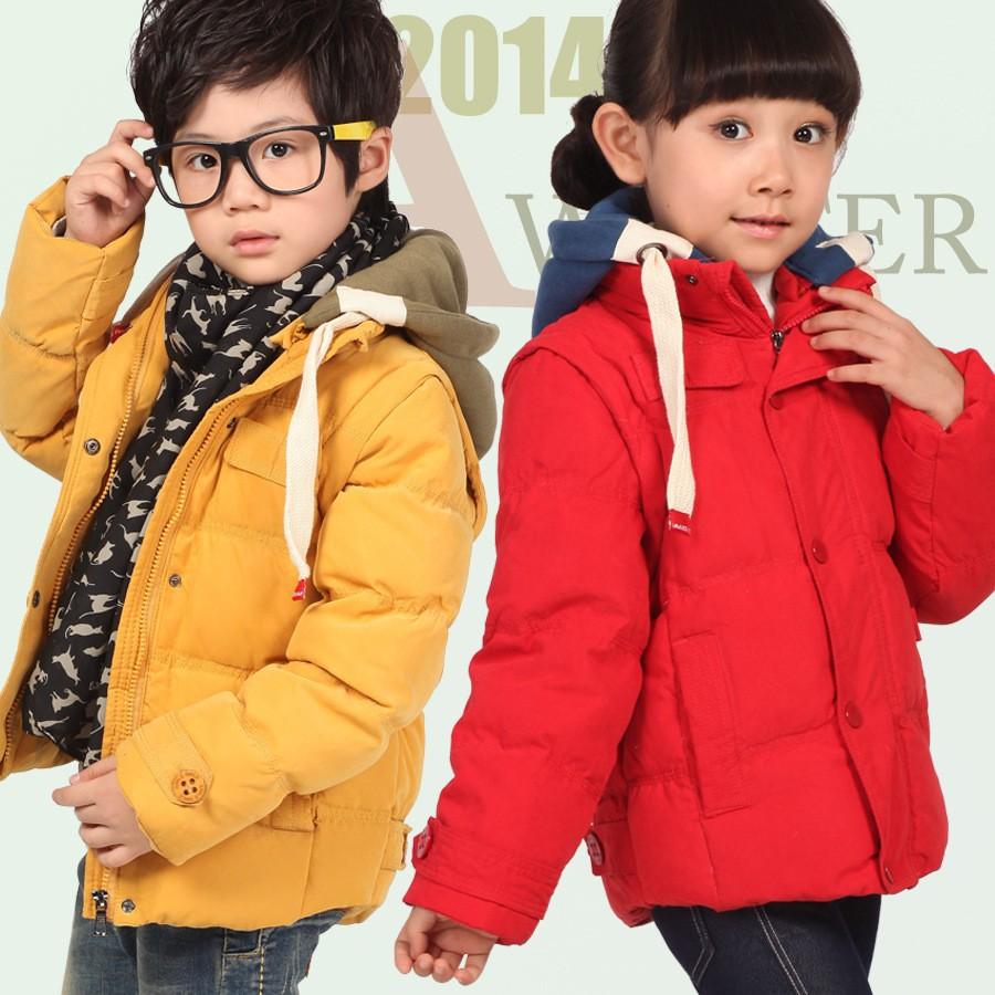 Скидки на Новый autunm / зима детская одежда верхняя одежда парки пуховик для мальчиков и девочек детский одежда 100 см до 150 см высота