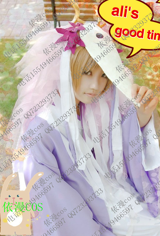 Natsume's Book of Friends Natsume Yuujinchou Natsume costume cosplay customize kimono + mask+tie +headwear+wig set(China (Mainland))