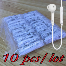 10 pieces/lot For s6 Earphone in-ear stereo earpiece with microphone for MP3 MP4 Samsung Galaxy S4 S3 S2 i9800 S7 S6 Edge(China (Mainland))