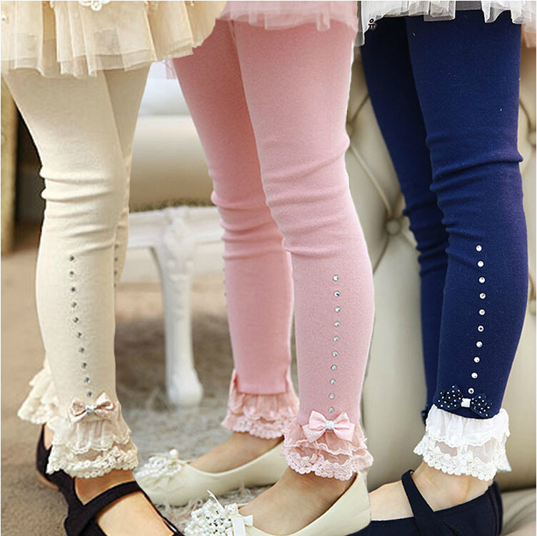 Hello Kitty Girls autumn winter lace bow Leggings princess ...