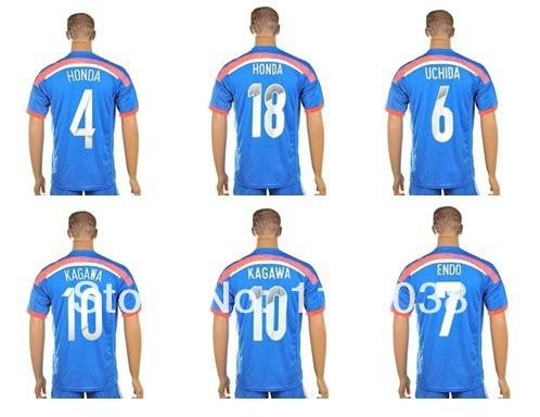 2013-14 Season National team 2014 Brazil World Cup soccer jersey japan football uniform shorts kits 100% cotton AAA quality ! - D&T SOCCER JERSEY STORE store