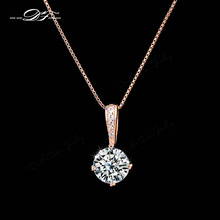 Buy Double Fair OL Style Cubic Zirconia Chain Necklaces & Pendants Rose Gold Color Fashion Crystal Wedding Jewelry Women DFN426 for $3.68 in AliExpress store