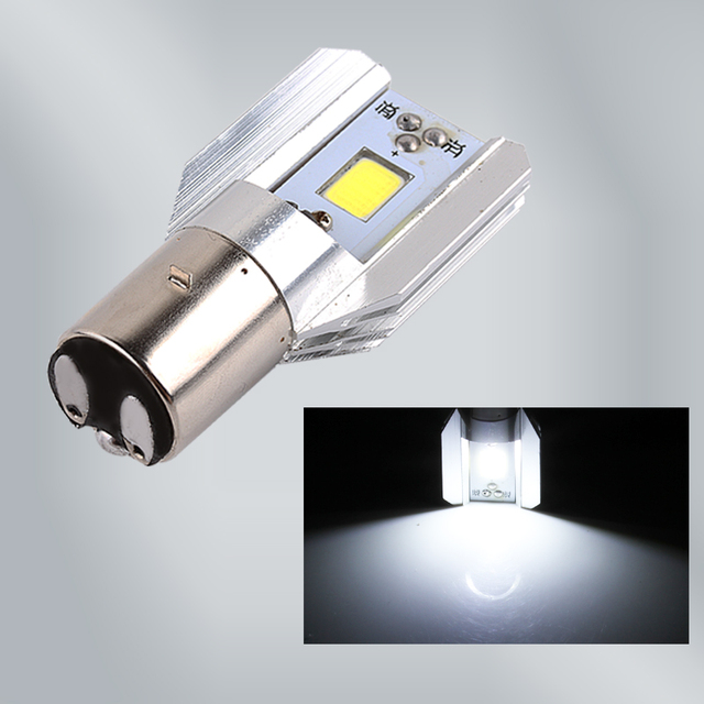 H6 Led Motorcycle Headlight Bulbs COB Led 6-80V 800LM BA20D H/L Lamp Scooter ATV Moto Accessories Fog Lights For Suzuki