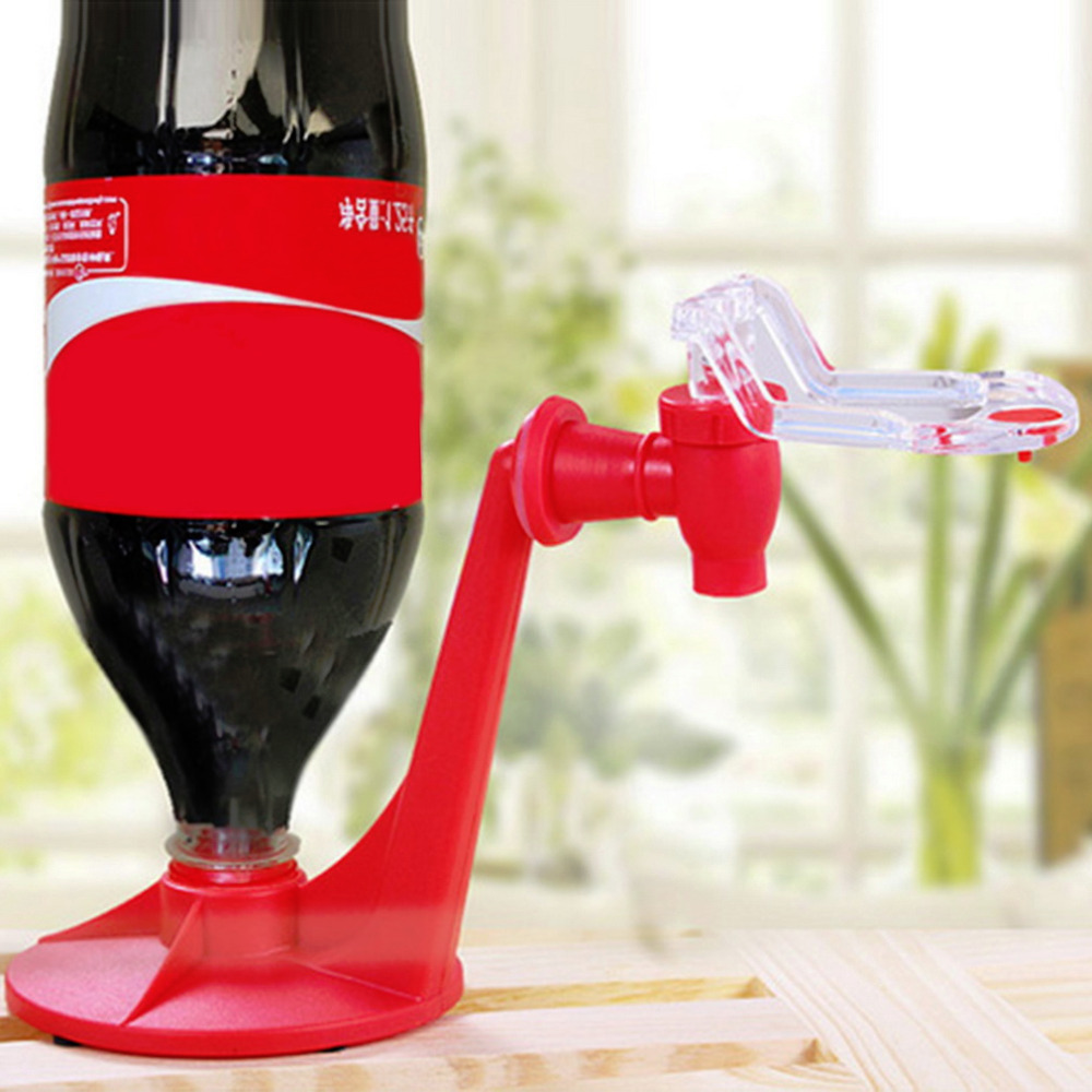 Hot Attractive Novelty Saver Soda Dispenser Bottle Coke Upside Down Drinking Water Dispense Machine Gadget Home Party Bar use(China (Mainland))