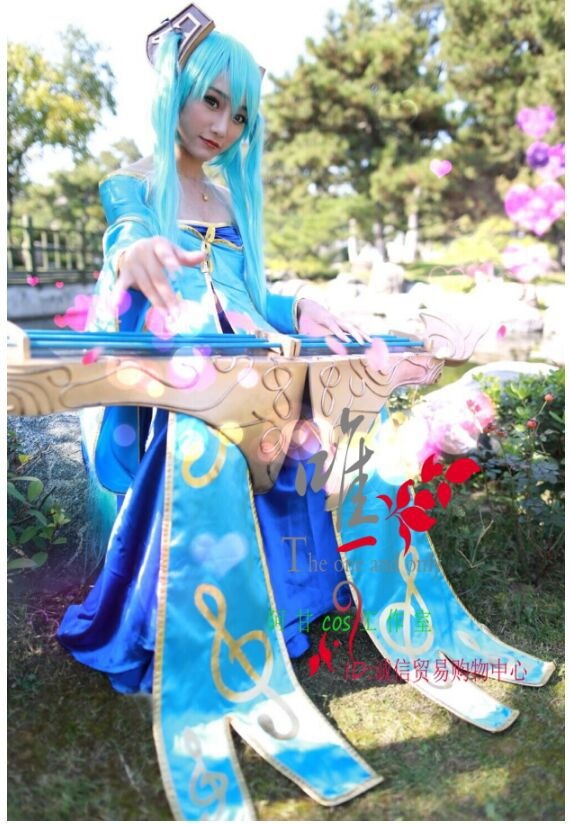 lol Sona cosplay costume dress for girls High quality any size can be Custom madeОдежда и ак�е��уары<br><br><br>Aliexpress