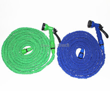 free shipping 100pcs/lot 50FT  Water Pipe Garden Hose With Spray Nozzle Flexable Water Expanding Hose(China (Mainland))