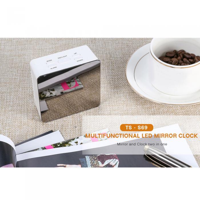 Горячая продажа 1 шт. цифровой будильник с большим зеркалом светодиодный дисплей