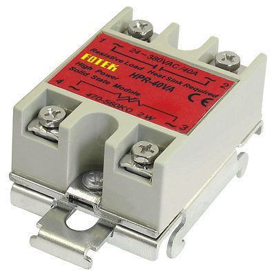 HPR-40VA 40A DIN Rail Solid State Module Relay 80-250V AC Input
