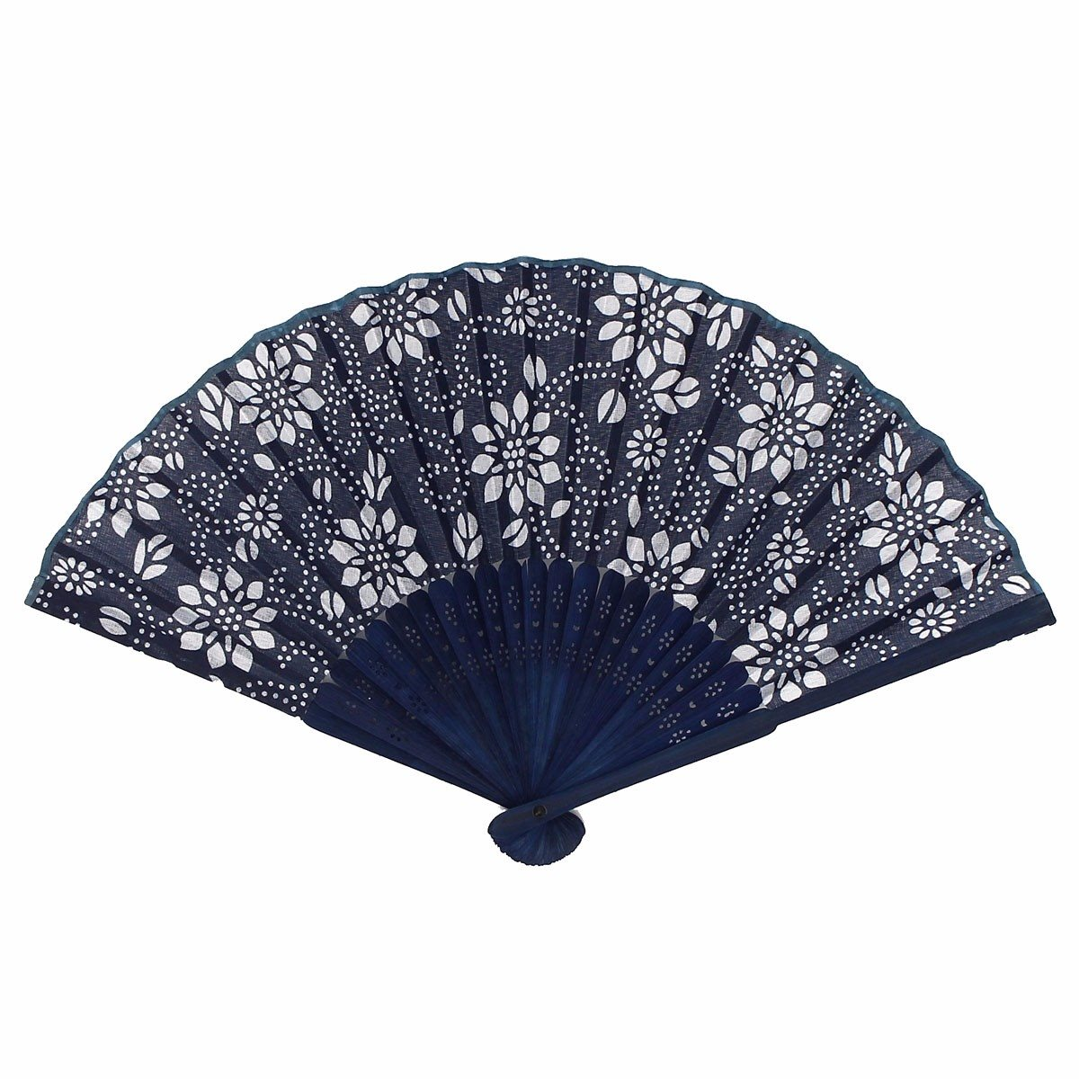 Wedding Party Flower Blue Fan Favors Gift Silk Bamboo Elegant Folding Hand Fan Gift Party Event Holiday Supplies(China (Mainland))
