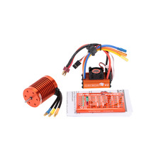 New SKYRC 9T 4370KV Brushless Motor+60A Brushless ESC with 5V/2A BEC Linear Mode+Program Card Combo Set for 1/10 RC Car(China (Mainland))