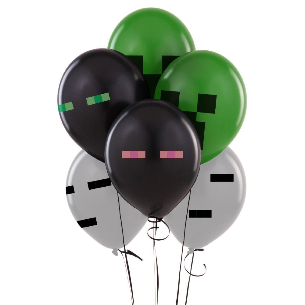 Minecraft latex balloons enderman ghast creeper minecraft for Balloon decoration equipment