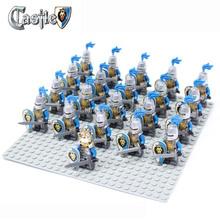 21pcs/lot Lion Knight A Minifigure compatible Ninja Building Block doll,Castle Brick accessory Sluban Decool mini figures