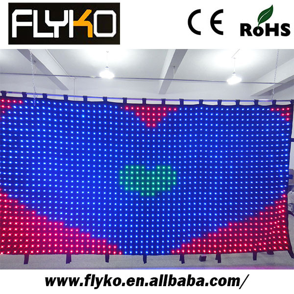 Free shipping 2*4m P7CM rgb led matrix factory video led curtain(China (Mainland))