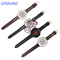 20mm Genuine Leather Watchband For Pebble Time Round Smart Watch High Quality Leather Strap Fine Steel