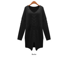 New arrival autumn fashion vintage skirt twist o-neck sweater female pullover  carton sweater(China (Mainland))