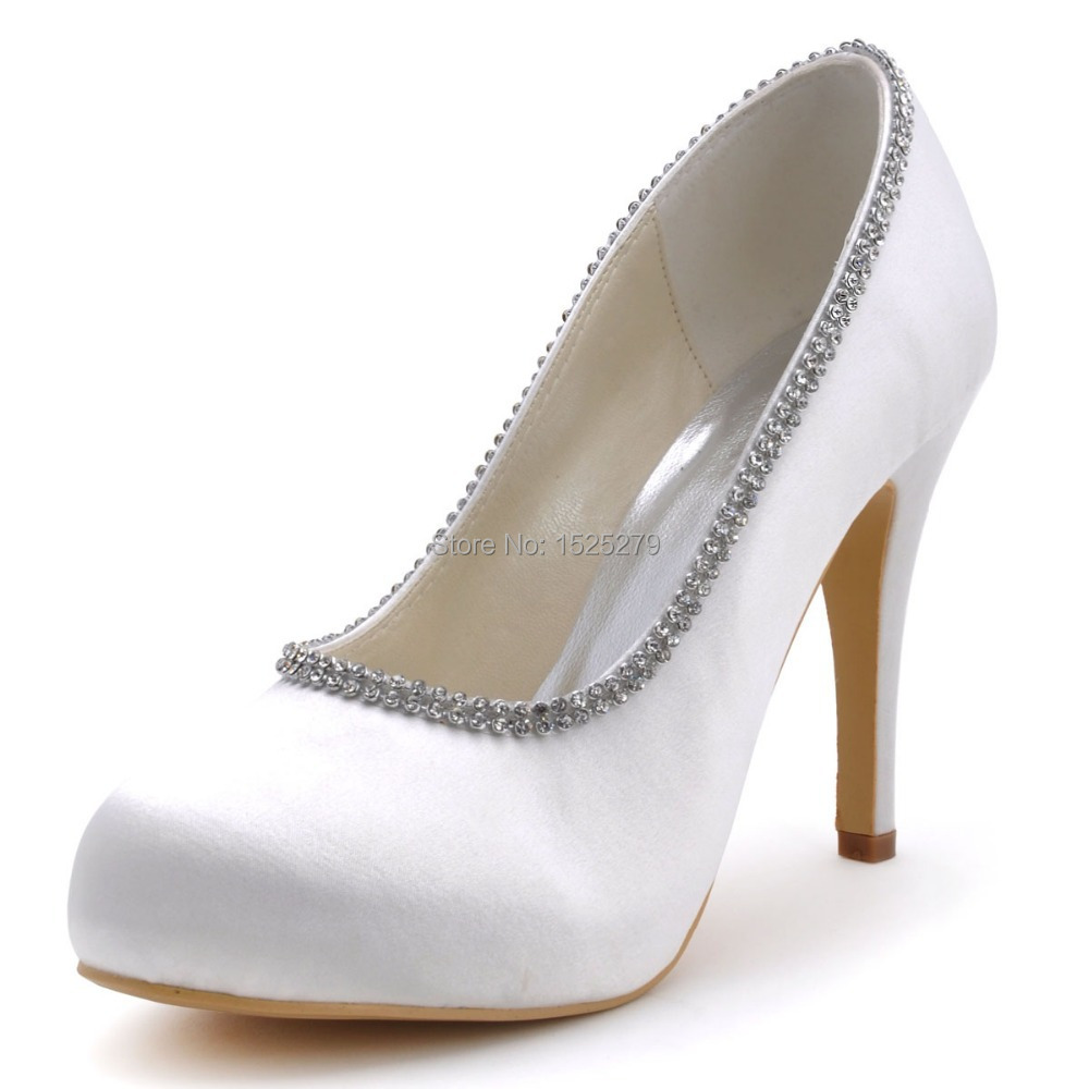 White High Heel Shoes For Wedding