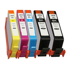 5 CHIPPED Ink Cartridge hp364 XL for Photosmart 5520 5524 6510 6520 7510 B109 B110 B209 B210 C309 C310 C410 PRINTER