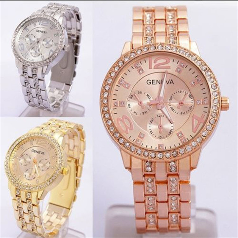 Gold diamond watches for women
