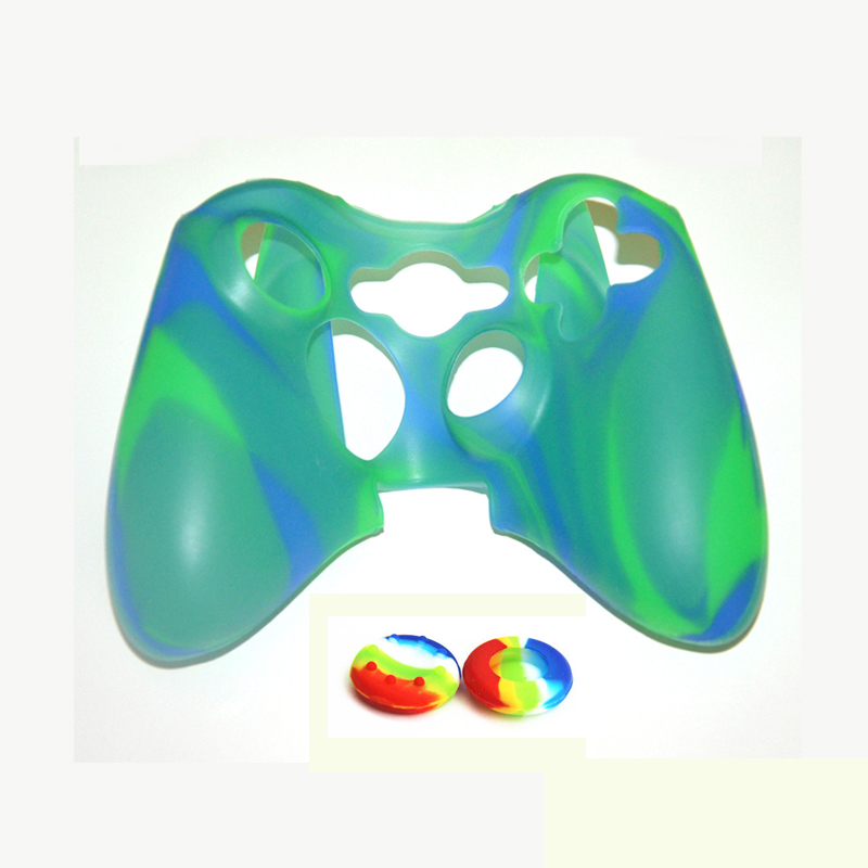 Hot sale popular Silicone Skin Cover Compatible for XBOX 360 case gamepad shell skin protector with joystick buttons(China (Mainland))