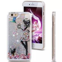 Девушки мода окрашены прозрачные динамически блеск блестка песок плывун задняя чехол для iphone 5 5 г 5S