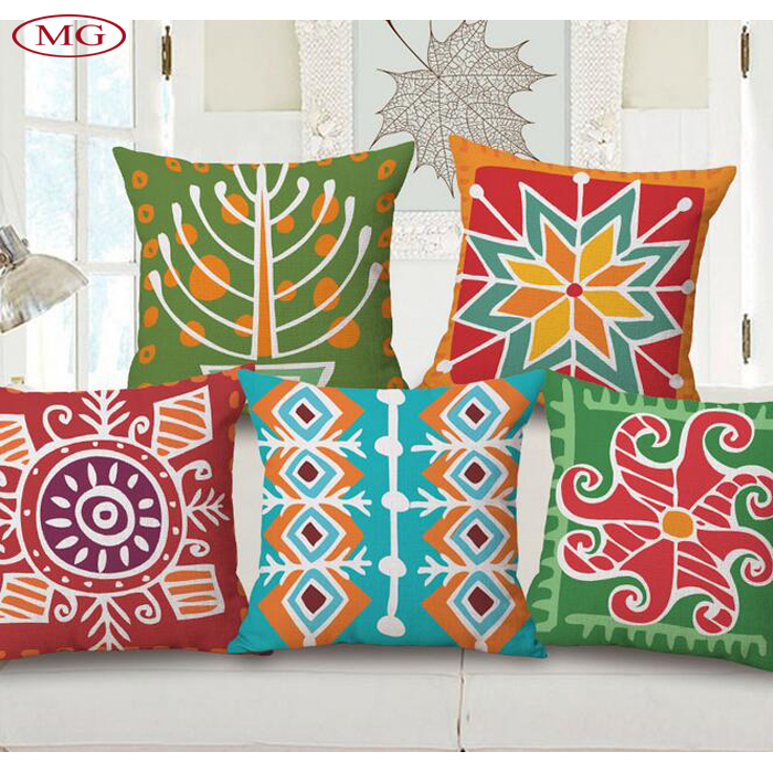 Bohemian style printing Ethnic cotton linen Home Textile sofa seat back cushion in home hotel,Home Textile throw pillow
