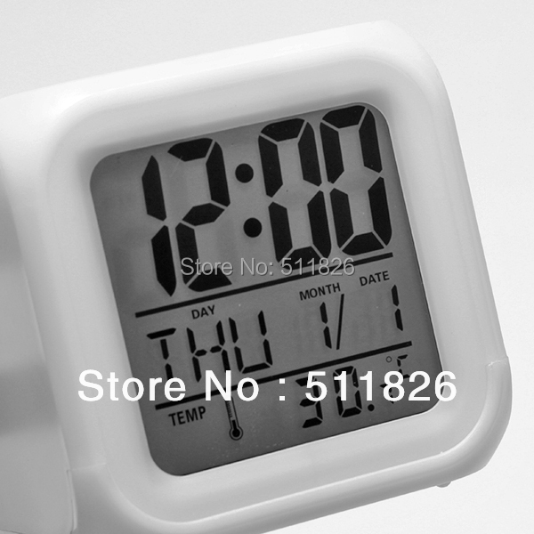 Free shipping Glowing Led Color Change Digital Alarm Clock 8052