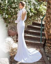 Buy Design Sense Appliques Lace Full Sleeve Satin Chiffon Wedding Dresses 2017 Sexy Scoop Neck Open Back Vestido De Noiva Plus Size for $248.99 in AliExpress store