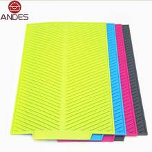 43*33CM Rectangle Dish Drying Mat - Premium Heat Resistant Silicone pad- Antibacterial Dishwaser Safe kitchen accessories(China (Mainland))