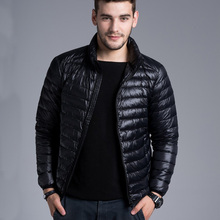 2015 Winter Padded Jacekt Men Brand Duck Down Collar Casual Warm Coat Outerwear Parka Jacket 6 Color Plus Size Down Jacket Men()
