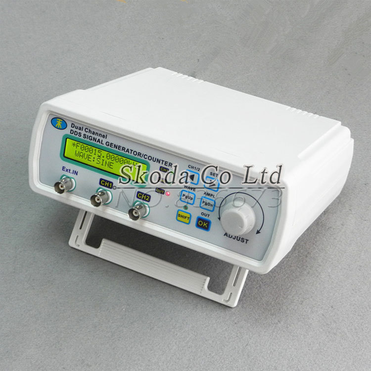Free MHS-3200A 20MHz DDS NC dual channel function signal generator,DDS signal source USB 4 kinds waveform output