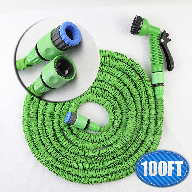 Retractable Garden Hose 100ft Expandable Magic Flexible Hose Water 30m For Watering Irrigation