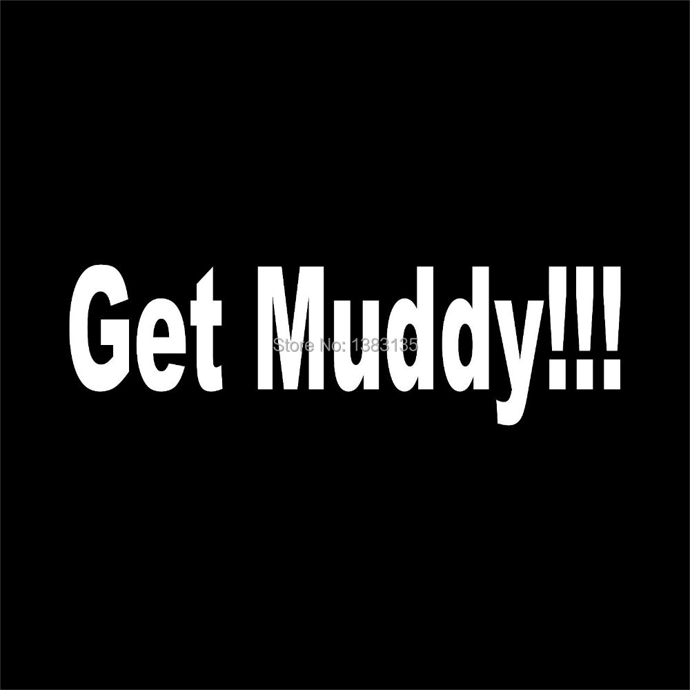 Get muddy truck car window vinyl decal sticker 4x4 Getting stickers off glass