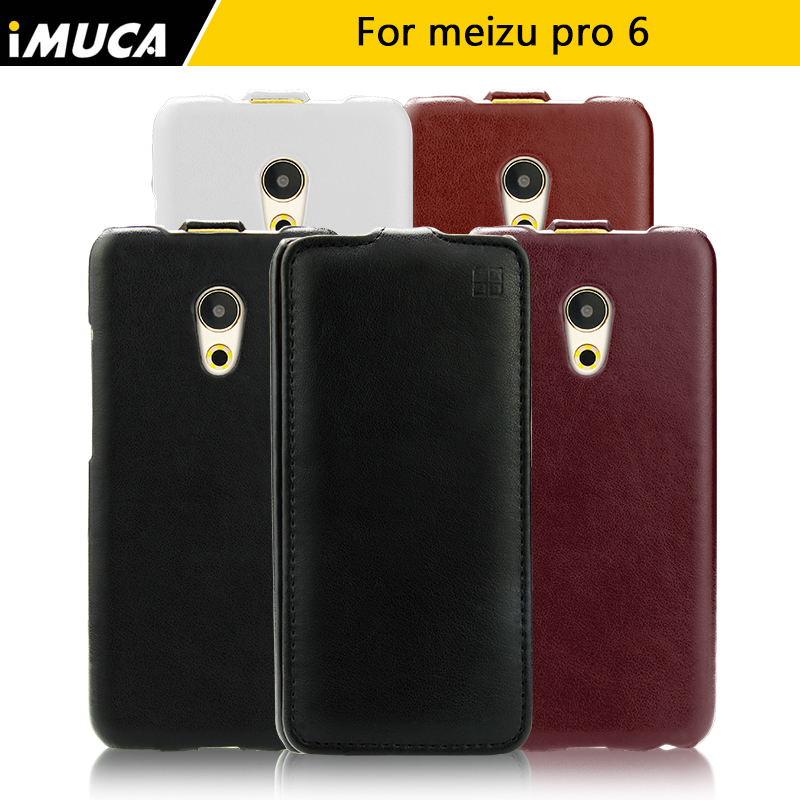 IMUCA Brand Phone Case For Meizu Pro 6 / pro 5 mini MX6 Pro Cell Phone PU Leather Flip Back Cover Case with Retail Package(China (Mainland))