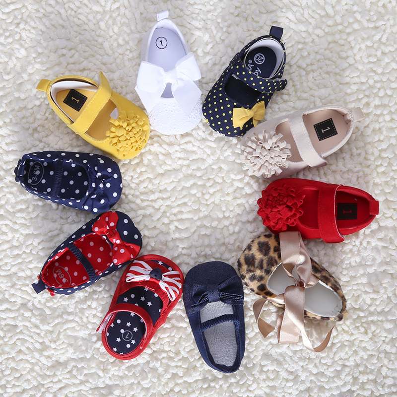 2016 NEW stylefashion summer flowers little girls princess cotton baby shoes infant toddlers shoes for girls fit 0~12M B01(China (Mainland))