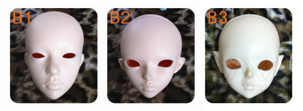 1/4th scale BJD head,only the doll head,can choose with face makeup.Order Remark for Serial number.not include eyes(China (Mainland))