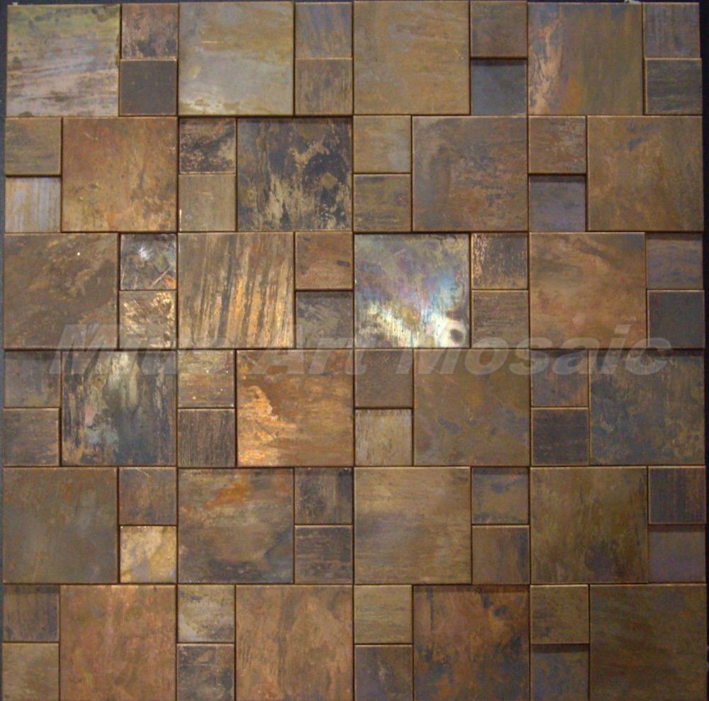 Antique tile backsplash