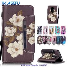 Buy Flip Case LG Leon 4G LTE H340N Case Floral Leather Soft Silicon Wallet Cover Coque LG H320 H340 H324 c40 Phone Case for $3.60 in AliExpress store
