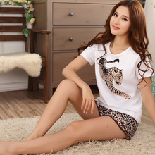 Free shipping new  Lovers pajamas women's short-sleeved summer pajama sets pure cotton couple pajama set sleepwear  men G0128